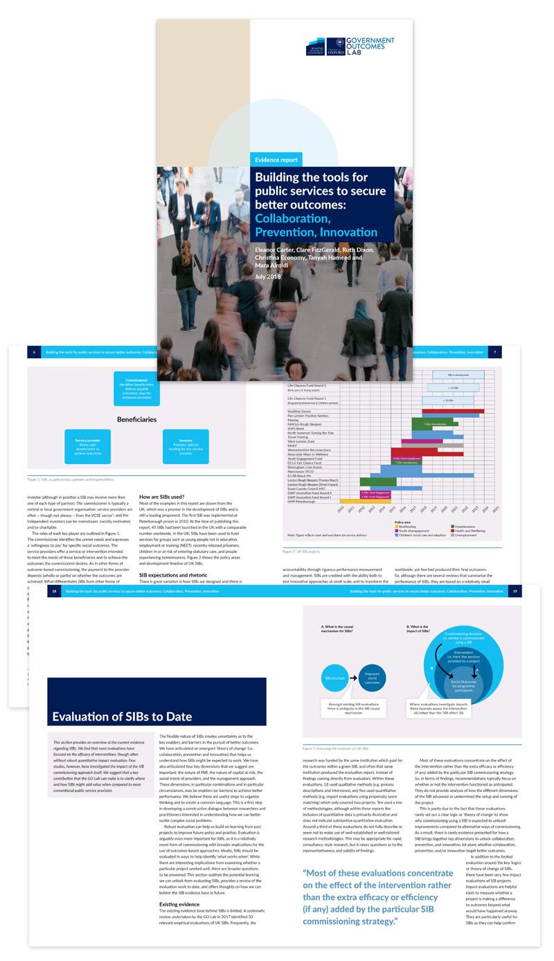 GO Lab Evidence Report design
