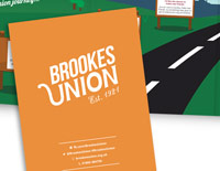 Fold-out guide to Brookes Union