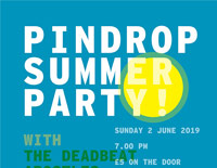 PinDrop Summer Party poster