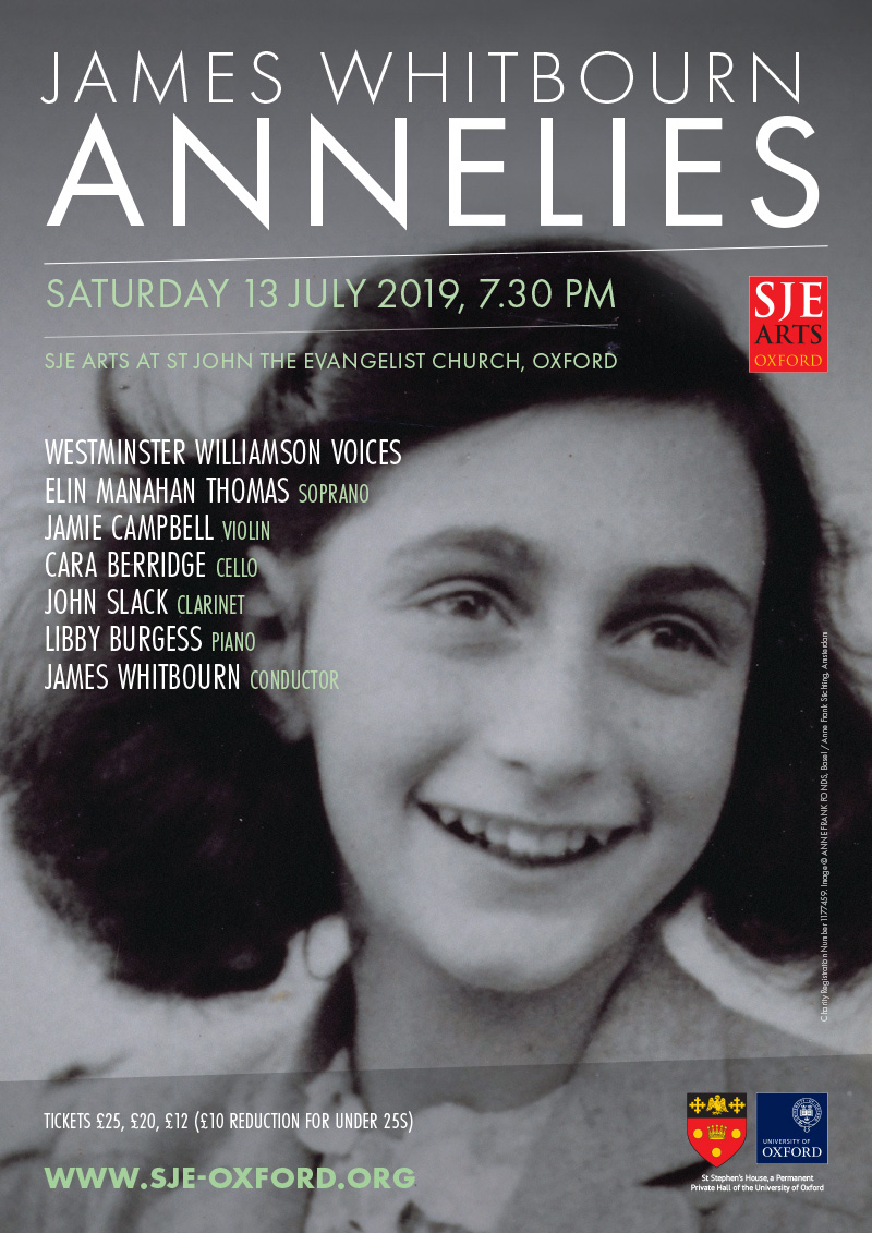 James Whitbourn: Annelies poster