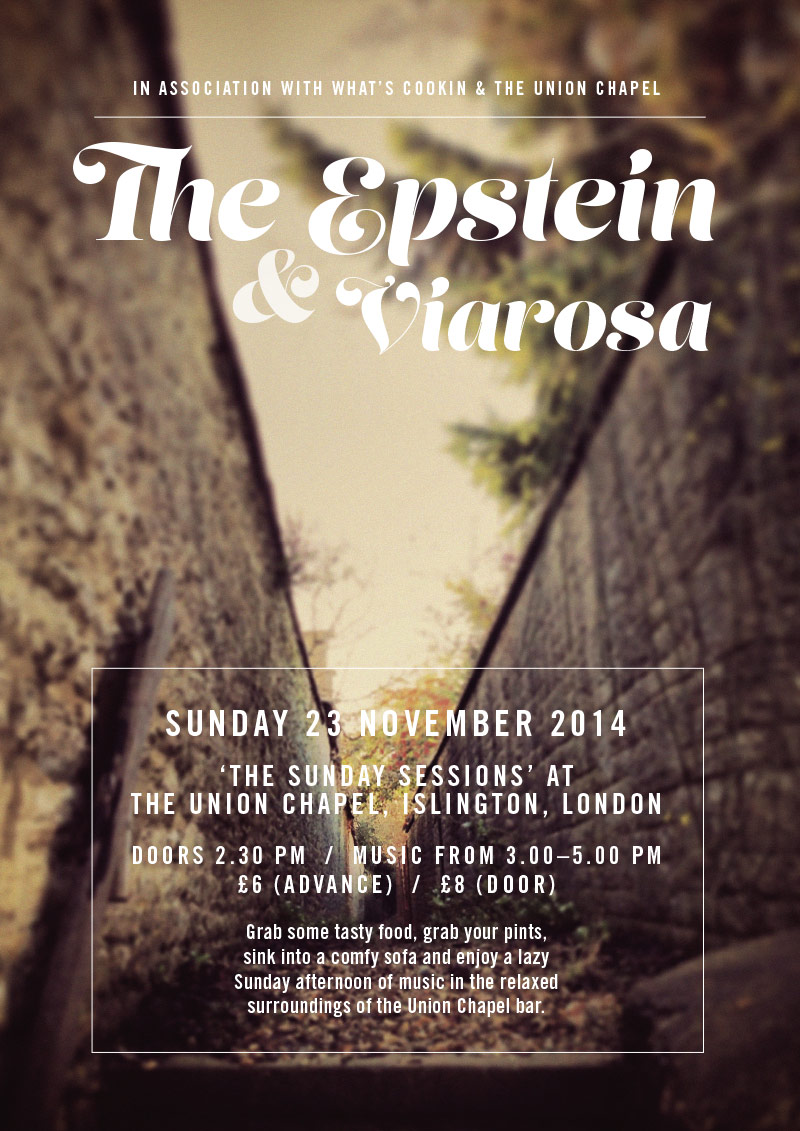 The Epstein 23 November 2014 tour poster