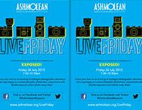 Ashmolean LiveFriday 26/07/13 leaflet