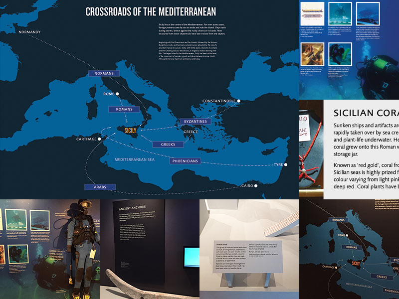 Ashmolean 'Storms, War & Shipwrecks' exhibition design