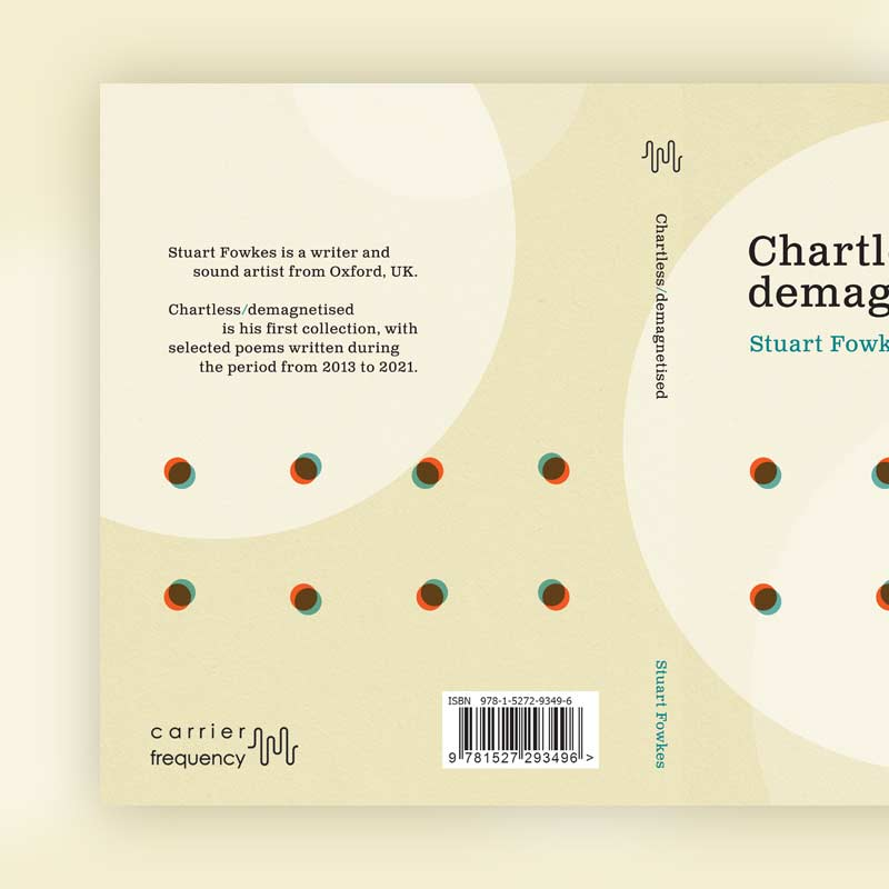 Chartless/demagnetised book back cover design and spine
