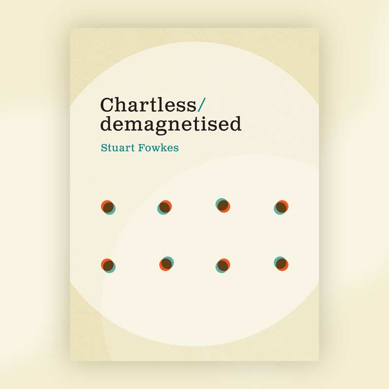 Chartless/demagnetised book front cover design