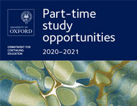 University of Oxford Continuing Education recruitment materials