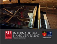 SJE Arts International Piano Series programme