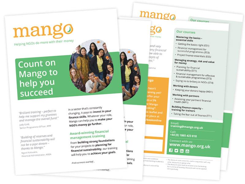 Mango 'Refer a friend' leaflet