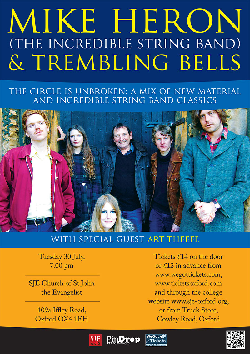 Mike Heron & Trembling Bells / Art Theefe poster
