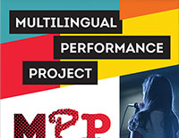 Multilingual Performance Project pull-up banner design