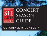 SJE Arts Concert Season Guide 2016-2017