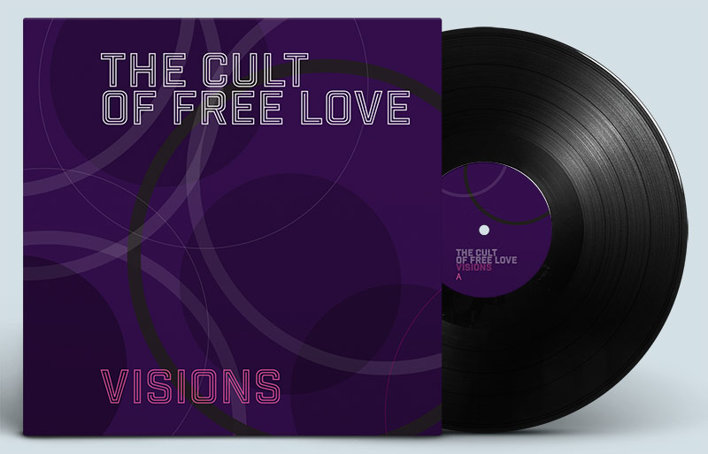 The Cult Of Free Love: 'Visions' album design