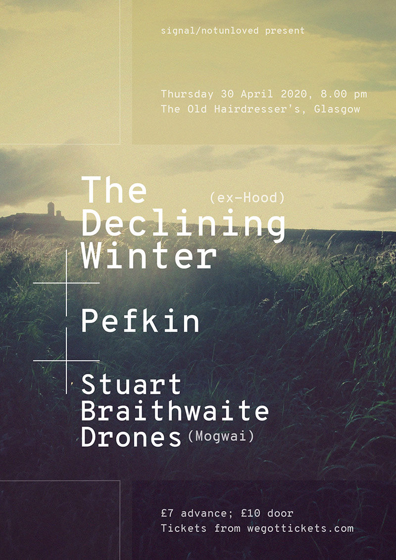 The Declining Winter / Pefkin / Stuart Braithwaite Drones poster